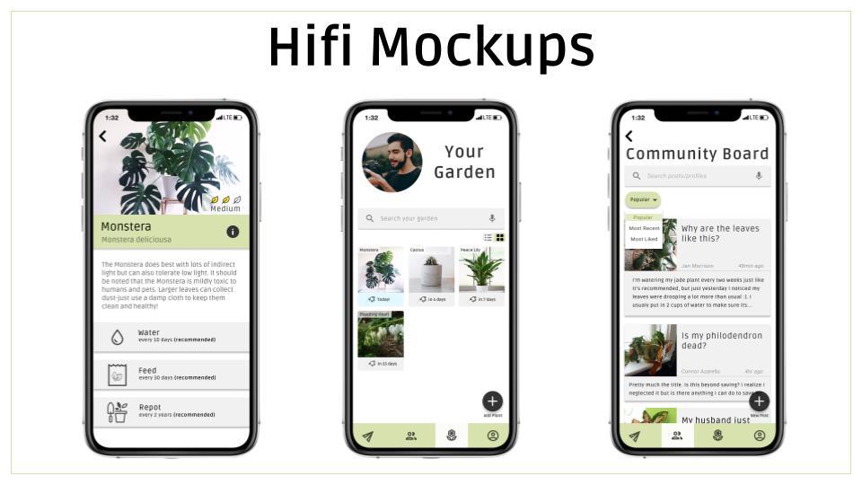 Hifi mockups