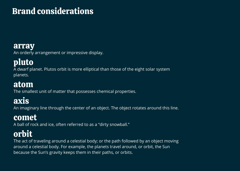 brand considerations