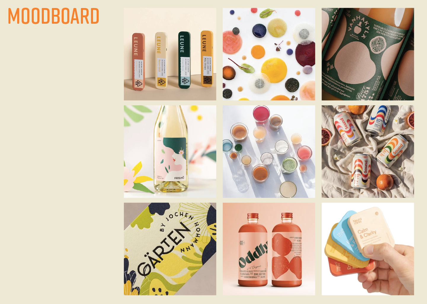 moodboard and color palette